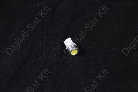 LED izzó T10 12V 1W smd jégfehér