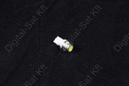 LED izzó T10 12V 2.5W jégfehér