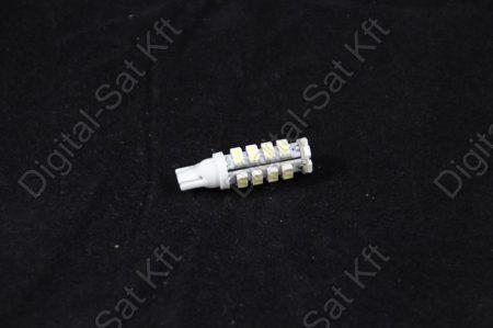 LED izzó T10 12V 3528 38 smd jégfehér
