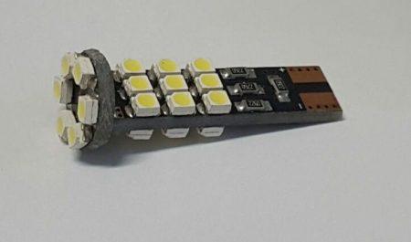 LED izzó T10 12V 3528 24 smd 6500K