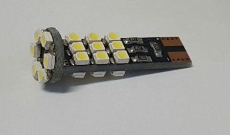 LED izzó T10 12V 1206 6 smd piros