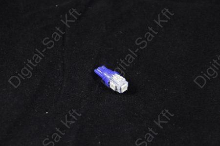 LED izzó T10 12V 5050 5 smd kék
