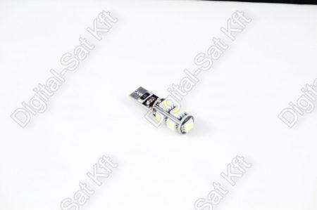 LED izzó T10 12V 5050 9 smd 6500K