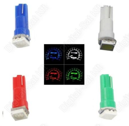 LED izzó T5 12V 5050 1 smd sárga