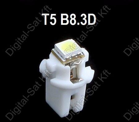 LED izzó T5 B8.3D 12V 5050 1 smd piros