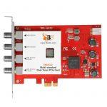 DVB többszabványú TWIN tuner, PCIe TV kártya, TBS-6522