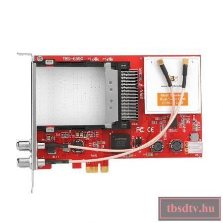 DVB többszabványú TWIN tuner, PCIe TV kártya, CI Common Interfac-el TBS-6590