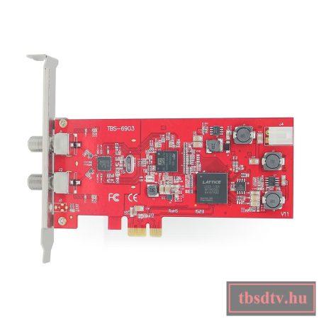 DVB-S2 Dual-Tuner, Professzionális PCIe Satellite-TV kártya, TBS-6903