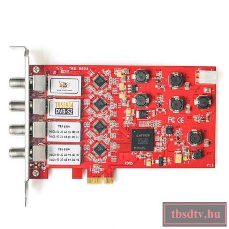 DVB-S2/-S QUAD tuner, PCIe sat TV kártya, TBS-6904