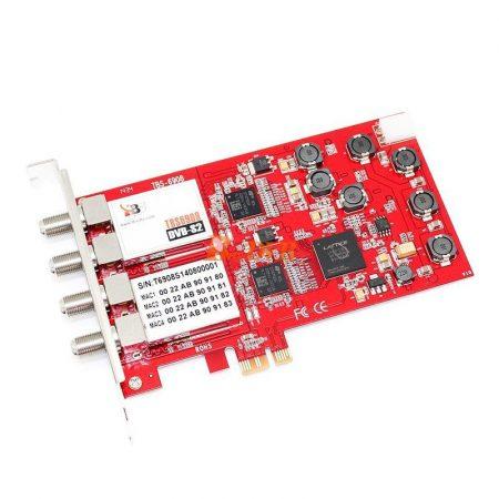 DVB-S2 QUAD tuner, Profi PCIe sat TV kártya, TBS-6908