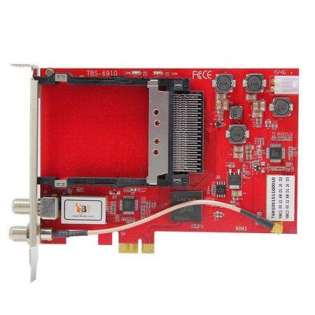 DVB-S2 TWIN tuner, PCIe sat TV kártya CI hellyel, TBS-6910