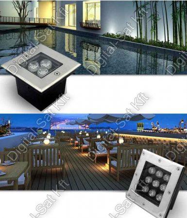 Varuna 24W LED taposólámpa, süllyesztett, kültéri IP67, járda, tér, kert világítás