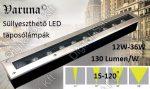 Varuna 18W LED taposólámpa, süllyesztett, kültéri IP67, járda, tér, kert világítás