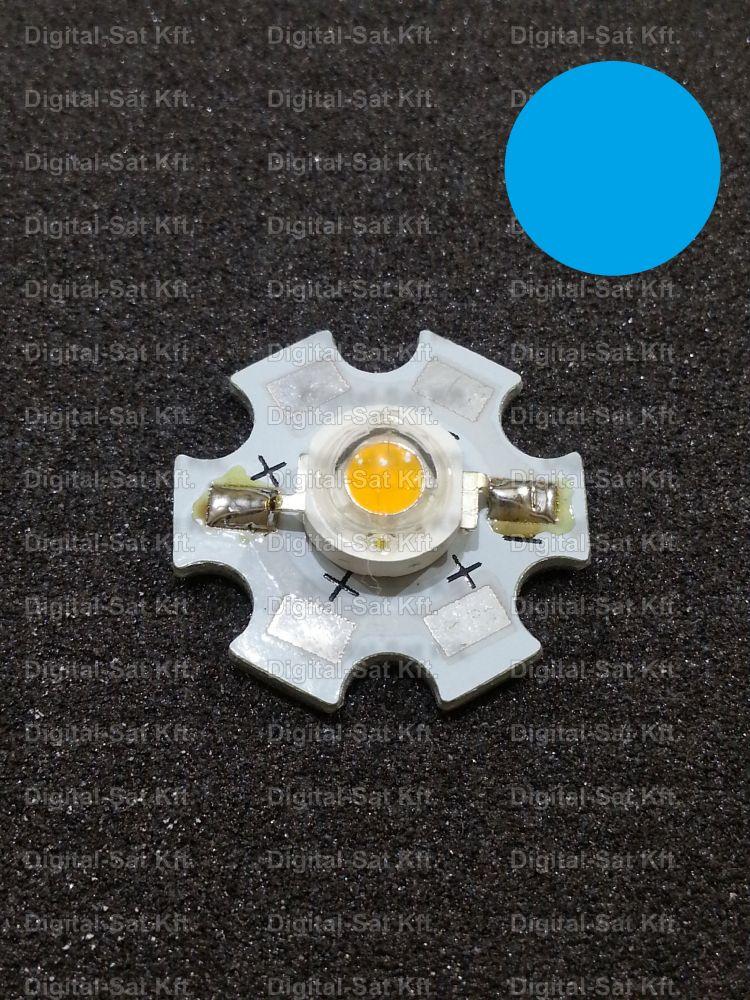 1W Power LED Kék 460-470nm hűtőcsillagon