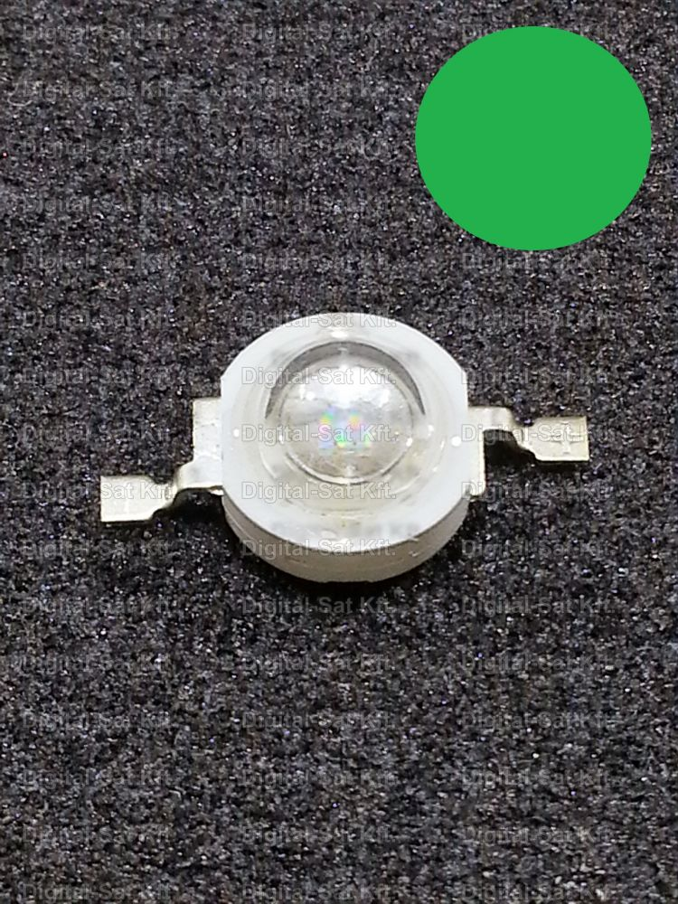 3W Power LED Zöld 160Lumen 525-530nm